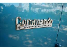 jeep beach logo 1973 jeep jeepster commando for sale classiccars com cc 758417