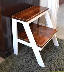 Library Step Stool Chair Combo 11 Free Step Stool Plans For An Easy Diy Project