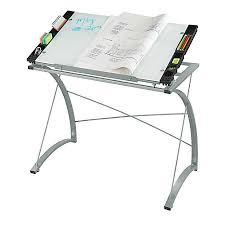 top drafting table safco expressions glass top drafting table silver by office depot