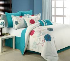 8pc luxury bedding set lucile white teal pink blowoutbedding com