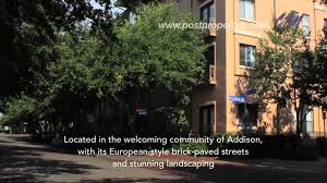 post addison circle luxury apartments in addison tx youtube