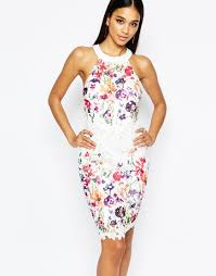 lipsy 2 in 1 floral lace printed pencil dress beautiful dresses