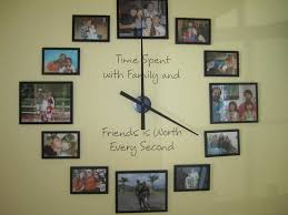 picture frame idea home design ideas awesome black frame ideas for family photo wall combine wall clock plus motivation qoutes wall decal