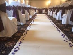 ivory aisle runner andyb events chair cover hire