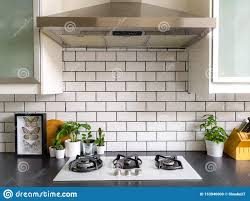 black and white kitchen framed pictures black and white subway tiled kitchen with numerous plants