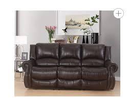abbyson living bradford faux leather reclining sofa dark brown abbyson living bradford faux leather reclining sofa dark brown
