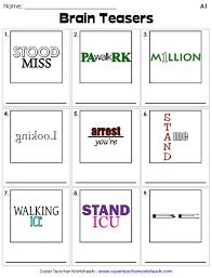 brain teaser worksheets printable brain teasers