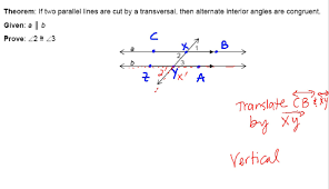 Same Side Interior Angles Postulate Using Rigid Motions For Parallel Lines Angle Proofs Easing The