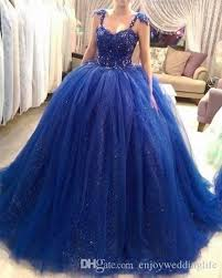 quinceanera dresses with straps 2017 royal blue gown quinceanera dresses straps spaghetti cap