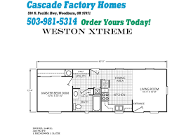 fleetwood manufactured home floor plans 14401l weston xtreme floor plan