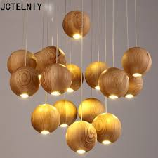 Wooden Chandelier Modern 2017 Solid Wood Chandelier Modern Japanese Nordic Creative