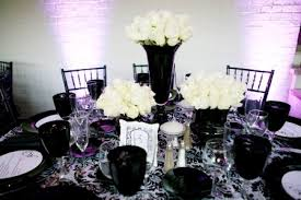 black and white wedding decorations black and white wedding table decoration ideas 5966