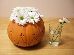 Fall Floral Decorations - 15 fall flower arrangements in handmade pumpkin pots