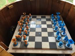 Ceramic Chess Set Mushroom Chess Set Routine Metaphysical