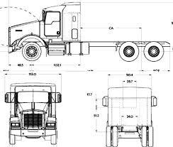 kenworth t800 truck blueprints trucks kenworth kenworth t800 aerocab 2016