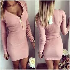 women club dress in spring plus size dresses long sleeve v