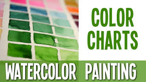 watercolor painting tutorial color charts youtube