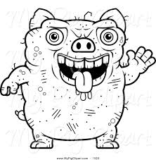 royalty free stock pig designs coloring sheets