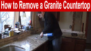Removing Kitchen Cabinets How To Remove A Granite Countertop Youtube