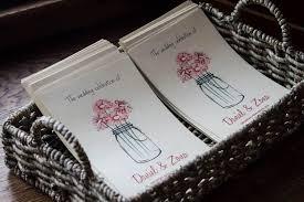 Mason Jar Wedding Programs Cheat Sheet How To Put Together Wedding Ceremony Programs