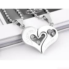 couple love heart necklace images Couples heart necklace clipart jpg