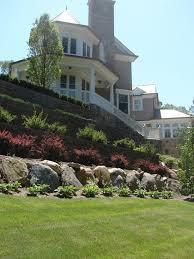 Backyard Slope Landscaping Ideas Triyae Com U003d Retaining Wall Backyard Hill Various Design