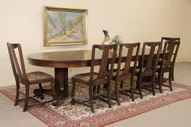 Antique Dining Room Sets Sold Oak 4 U0027 Round 1900 Antique Pedestal Dining Table 6 Leaves