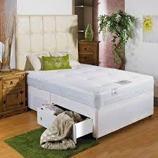White Small Double Bed Frame by Hf4you White Memory Soft Divan Bed 4ft 6