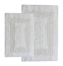 Gray Bathroom Rug Sets Reversible Cotton Bath Rugs Amazon Com