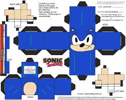 Sonic The Hedgehog Papercraft - sonic paper free printable papercraft templates