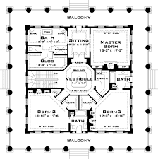 southern plantation floor plans plan 44055td classic revival with tour southern
