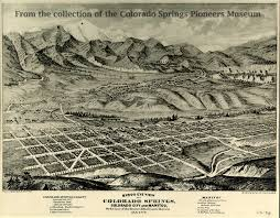 Colorado City Map Map And Blueprint Collections Colorado Springs Pioneers Museum