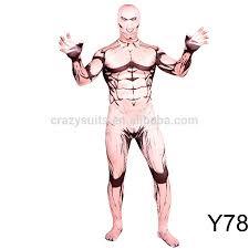 Muscle Man Halloween Costume Cosplay Costume Halloween Zentai Muscle Man Body Suits