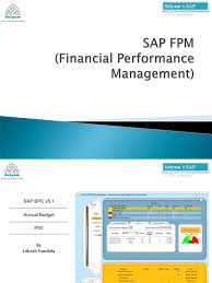 sap bpc annual budget demo business process sap se