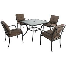 Steel Patio Furniture Sets - hanover traditions 5 piece patio outdoor dining set with 4 cast