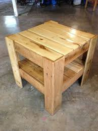 Outdoor Furniture Made From Wood Pallets Bedside Or End Table Made From Pallets Bedside Tables