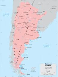 Blank Political Map by Argentina Map Blank Political Argentina Map With Cities