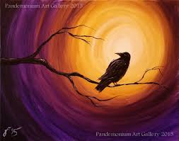 spooky backgrounds in this video i u0027ll be showing you how to paint a raven on a