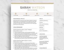 Word Professional Resume Template Resume Template Etsy