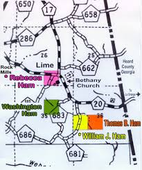 Alabama Counties Map Ham Family Homesteads And Land Patents In Randolph County Alabama