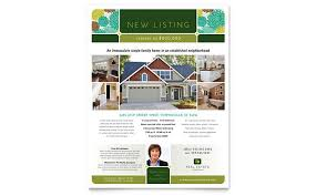 real estate listing template real estate flyer templates edit and print stocklayouts