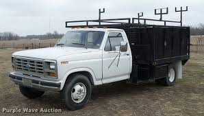 1984 ford f350 flatbed pickup truck item da5881 sold ma