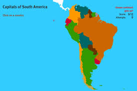 South America Map Capitals by Interactive Map Of South America Capitals Of South America World