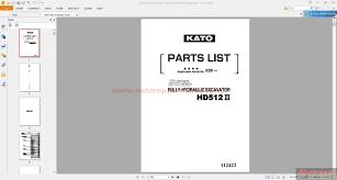 kato fully hydraulic excavator hd512iii parts catalog auto