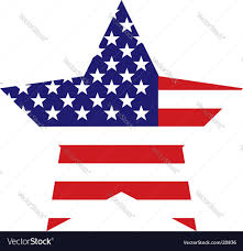 Us Flag Vector Free Download American Flag Star Background Royalty Free Vector Image