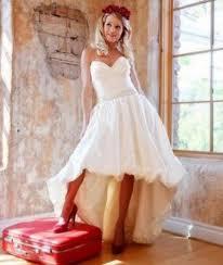 short front long back vintage wedding dresses ruched sweetheart