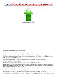 download browning bps manual quick start guide shotgun revolver