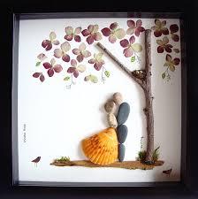 hochzeitsgeschenk braut hochzeit geschenk pebble kunst einzigartige engagement geschenk