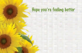 feel better cards you re feeling better florist enclosure card quality low price