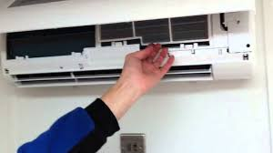 haier wall mounted air conditioner ben shows how to clean air conditioning filters youtube